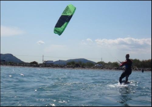 2 positioning the kite foil flysurfer board