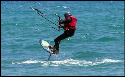 hydrofoil fahren Mallorca kiteschule