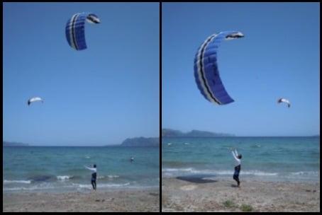 1 aterrizando un kite en Mallorca flysurfer