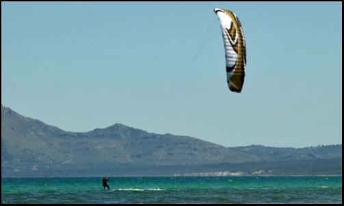 1 flysurfer kite foil Speed 3 de 21 metros kitesurfing mallorca escuela de kite en Pollensa y Alcudia