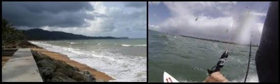 1 mauvais temps devrait être évité pour apprendre le kitesurf