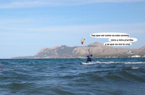 16 pablete flipando como cada fin de semana clases de kite en Julio en mallorca