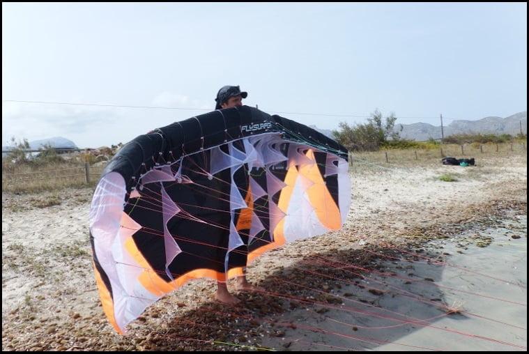 2 ecole de kite a Majorque avec Peak 6 mts de Flysurfer