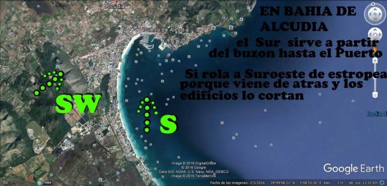 3 À Majorque, nous recevons du vent de différentes directions