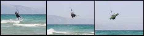 3 y sales despegado hacia arriba kitesurfing mallorca salto basico