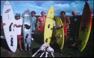 4 Lou Wainman, Mike Waltze, Pete Cabrinha y Robby Naish