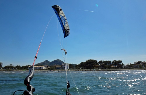 4 Speed 3 in action Mallorca kiteschool in September