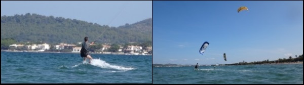 4 sein Kitelehrer beobachtet ihn vorsichtig vom Ufer aus