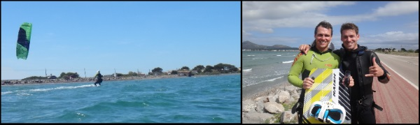 6 Cornelius y el monitor de kite aprende kitesurf en Mallorca con la Asociacion Aprende a Navegar