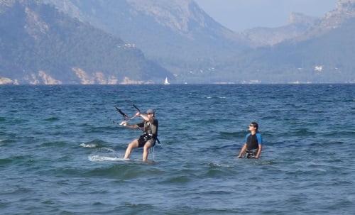 6 buena posición de navegación sin perder altura kite en Pollensa