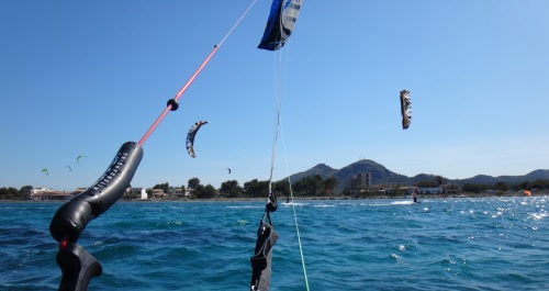6 from behind the kite bar great success Mallorca light wind