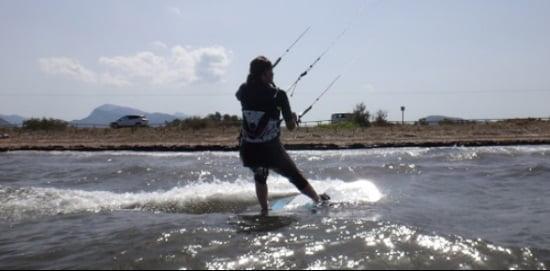 7 unsere neuen Kitesurfer-Girl weiter Fortschritte und gewinnen Meter