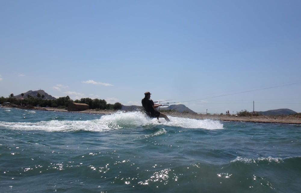 87 la tabla y el splash kitesurf en mallorca