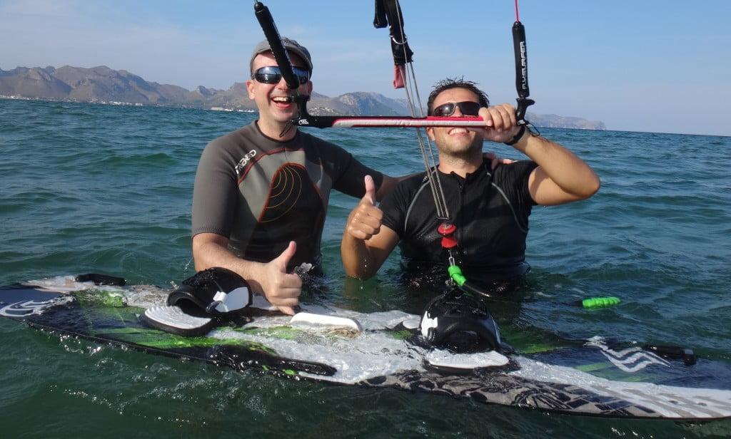 Carlos and his kitesurf instructor kite courses Alcudia and Pollensa Sa Marina