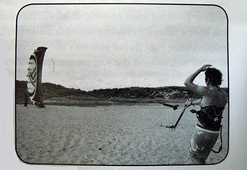 bajando el kite signo internacional
