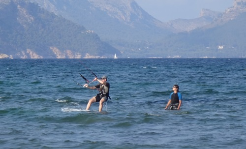good sailing position without losing height kite in Pollensa