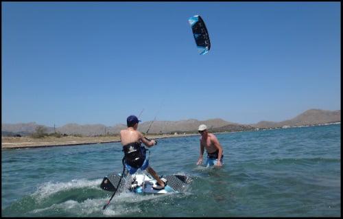 kitesurfing cursos en Mallorca mirar hacia arriba no es la solución