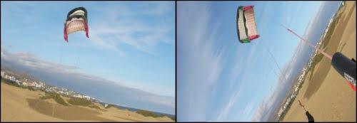 las cometas se van llenando de aire curso de kite Alcudia
