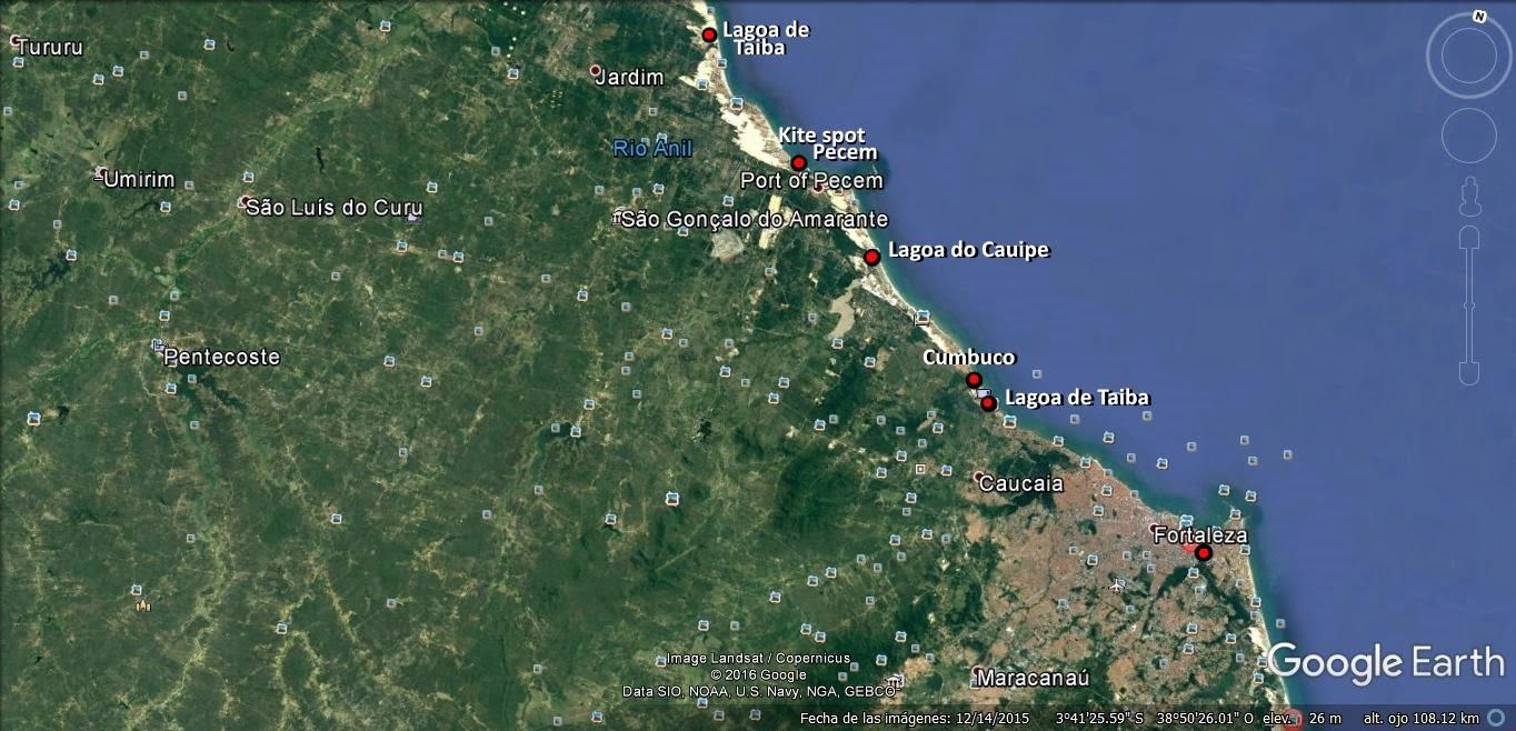 1 mapa de fortaleza a Pecem kitesurfen Mallorca in Juni kiteblog