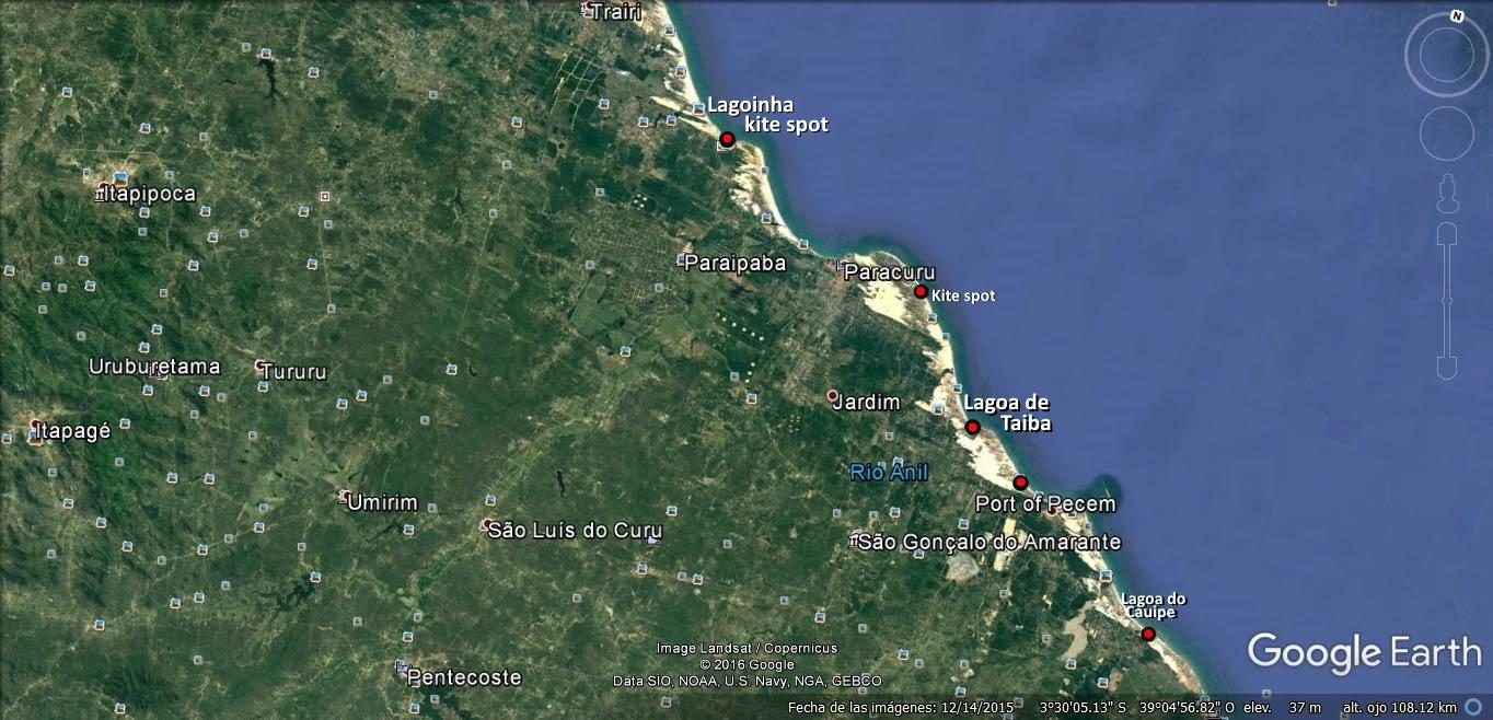 1a mapa de Pecem a Paracuru kitesurfen Mallorca in Juni kiteblog