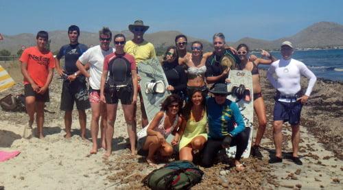 2 Asociacion Aprende a Navegar clases de kite en Palma de Mallorca en Julio