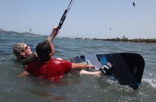 7 Julian enseñando kitesurf en Palma de Mallorca en Agosto