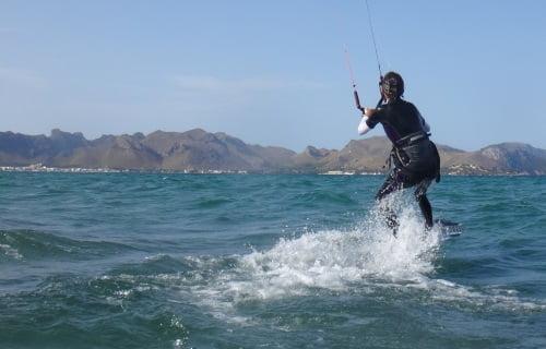 9 despues de 3 dias de clases de kitesurf en Pollensa