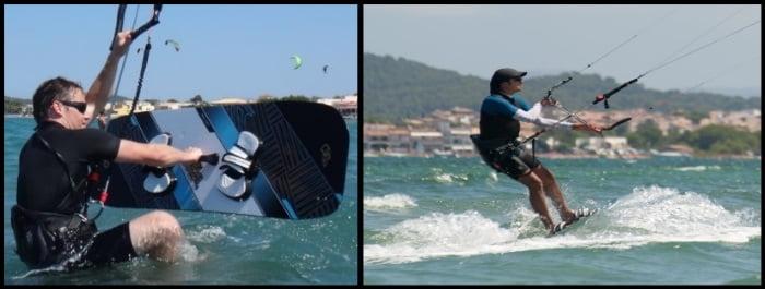 kitesurfing en mallorca waterstart en Julio