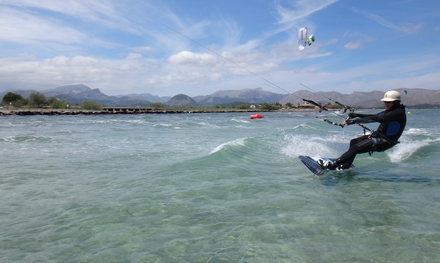 losing speed just before the Kitesurfing accident in Mallorca