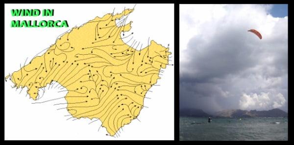 termicos sobre Mallorca en las distintas direcciones con respecto a la costa