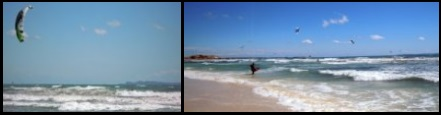 kitesurfing in Sa Rapita with winds from south