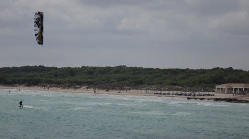 zona oeste de la playa de Sa Rapita - Flysurfer Speed 3