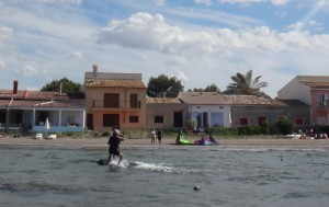 4-standing-on-the-board-Danish-kiteschool-Mallorca-300x189