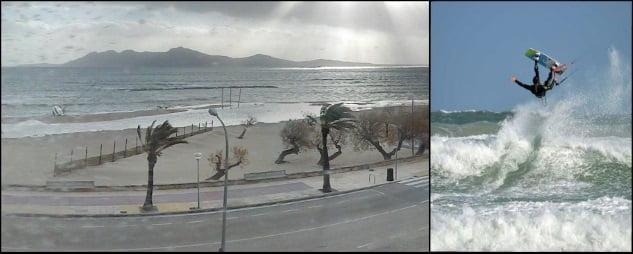 8 vent à Majorque en juin kitesurf sur l'île