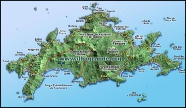 18 Mapa de Ilha Grande