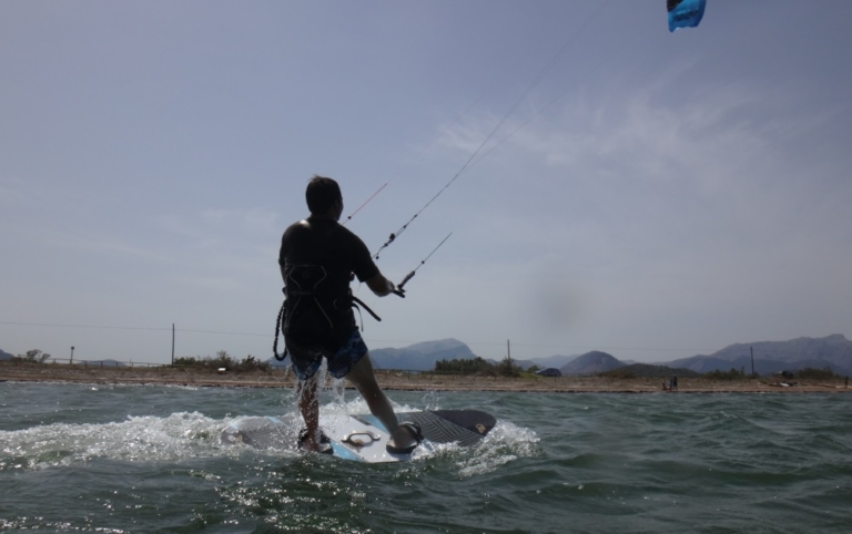 3 up he goes waterstart and kite lessons in Pollensa