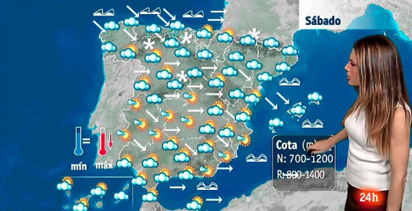 Situation météorologique typique en hiver à Majorque les îles Baléares et la péninsule ibérique