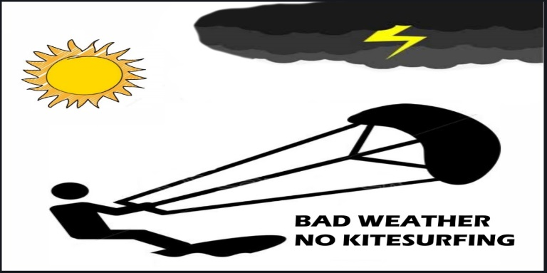 bad weather no kitesurfing