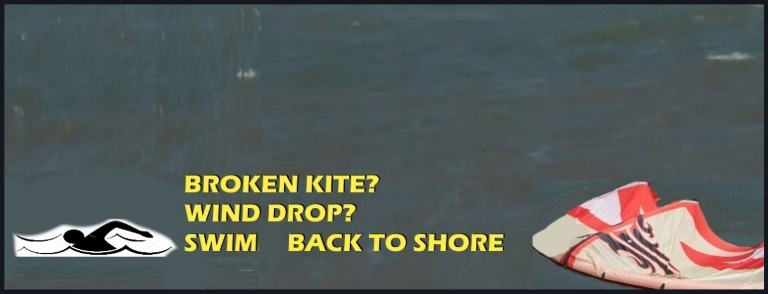 broken kite swim to shore now