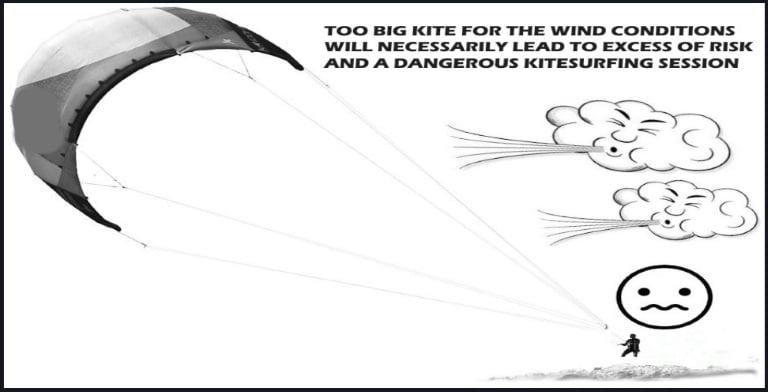 too much wind no kitesurfing