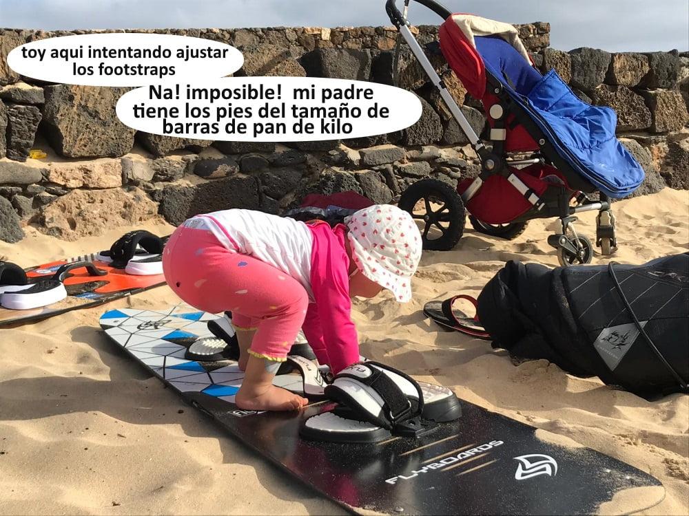 9 ajustando los footstraps - kitesurfing en Mallorca