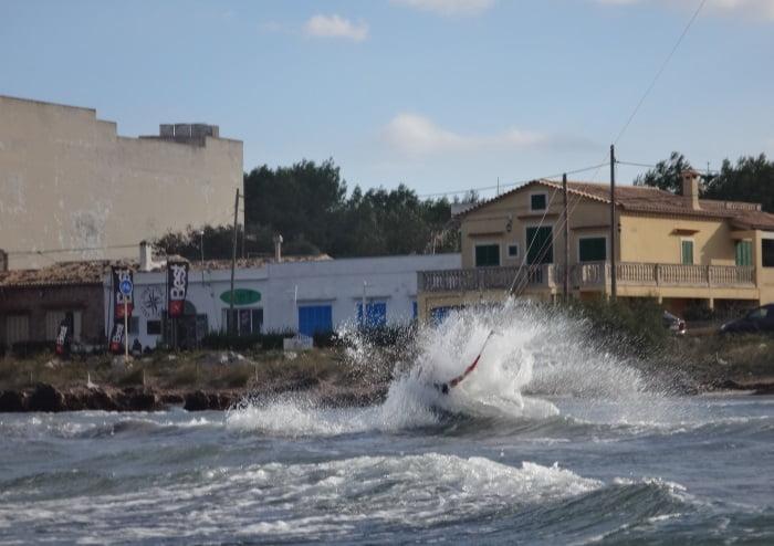 10 parando bruscamente - peligros del kitesurf
