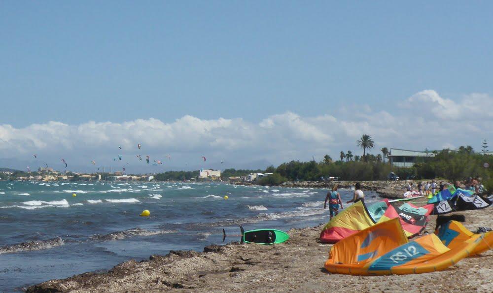 la playa kite spot Mallorca