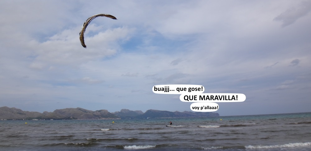 11-kitesurf en Mallorca-Pollensa-Bay-junio