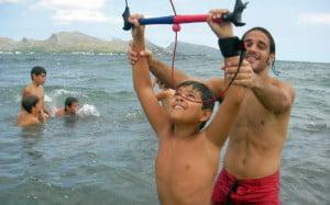 11-lecciones de kitesurf en Mallorca para niños