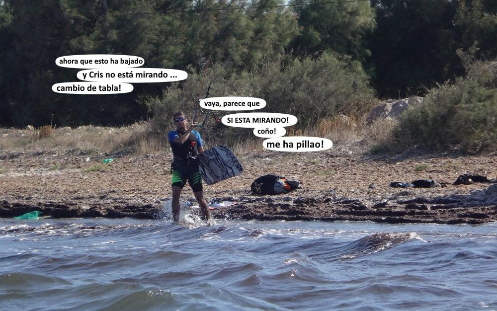 18-donde-te-crees-que-ibas-kitesurf en la bahia de Alcudia mallorca