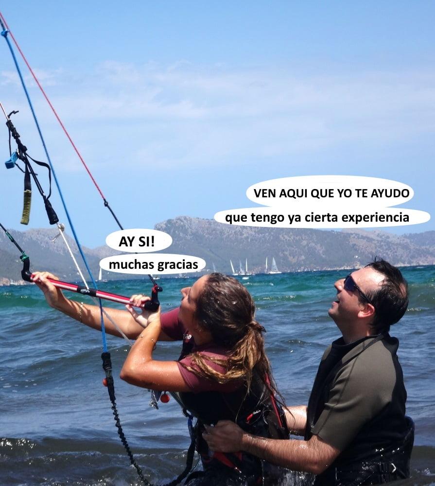 2 clases de kitesurf en Mallorca la bella y el bestia