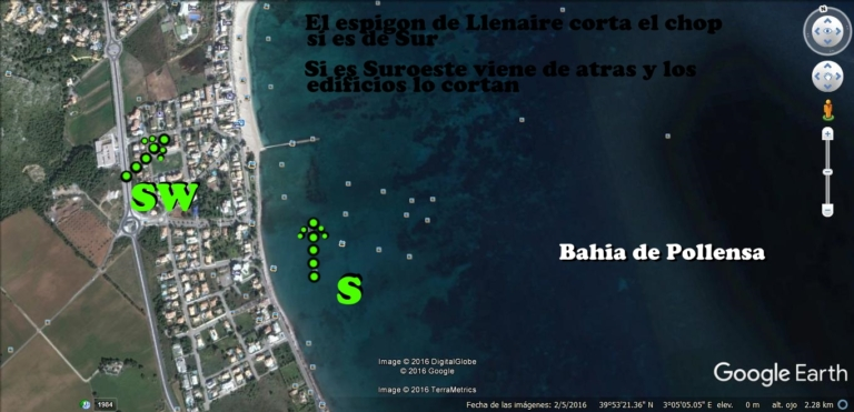 6 plage Llenaire - baie Pollensa kitesurfing mallorca.com vent du sud