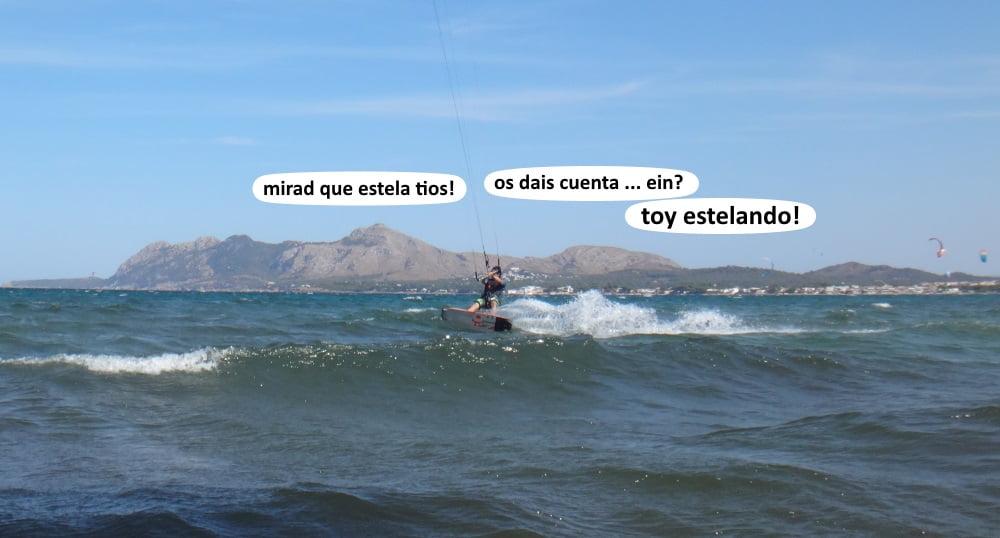 8-estelando-como-él-dice-curso de kitesurf en Alcudia - mallorca