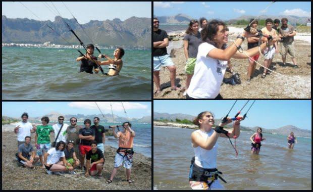 Sa Marina curso de kitesurf para mallorquines